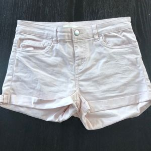 Light Pink H&M size 4 jeans shorts